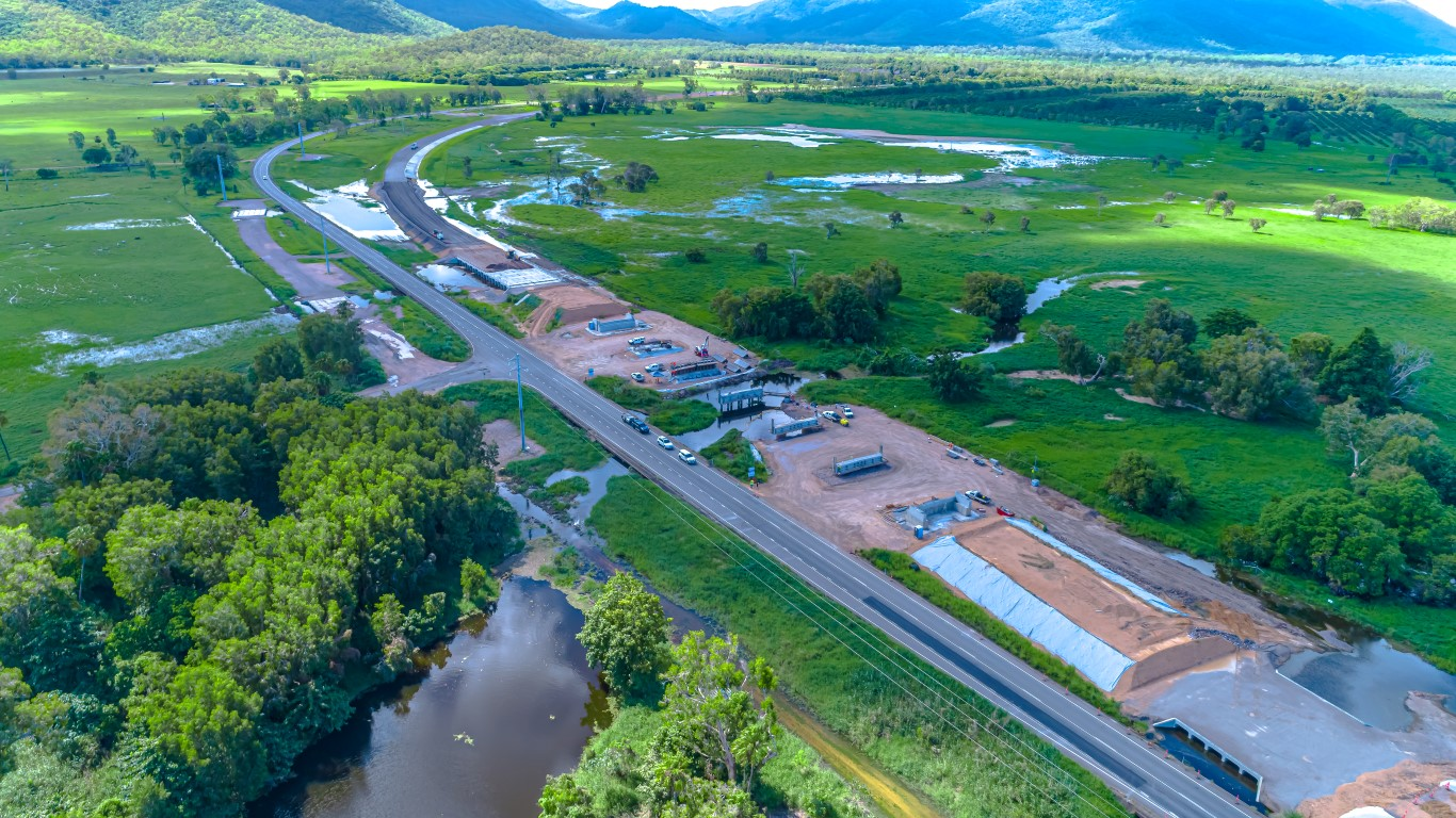 aerial photo of earthmoving project