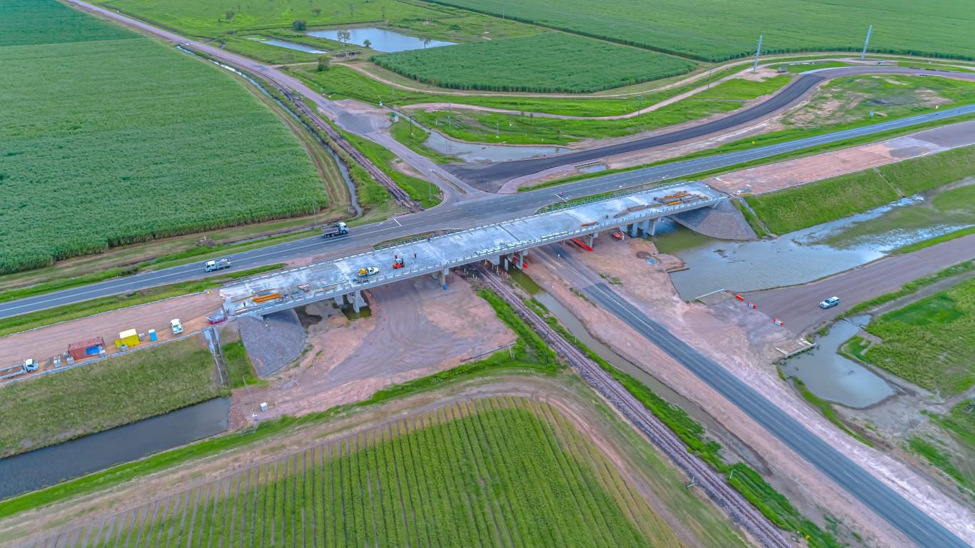 construction of bridge aerial