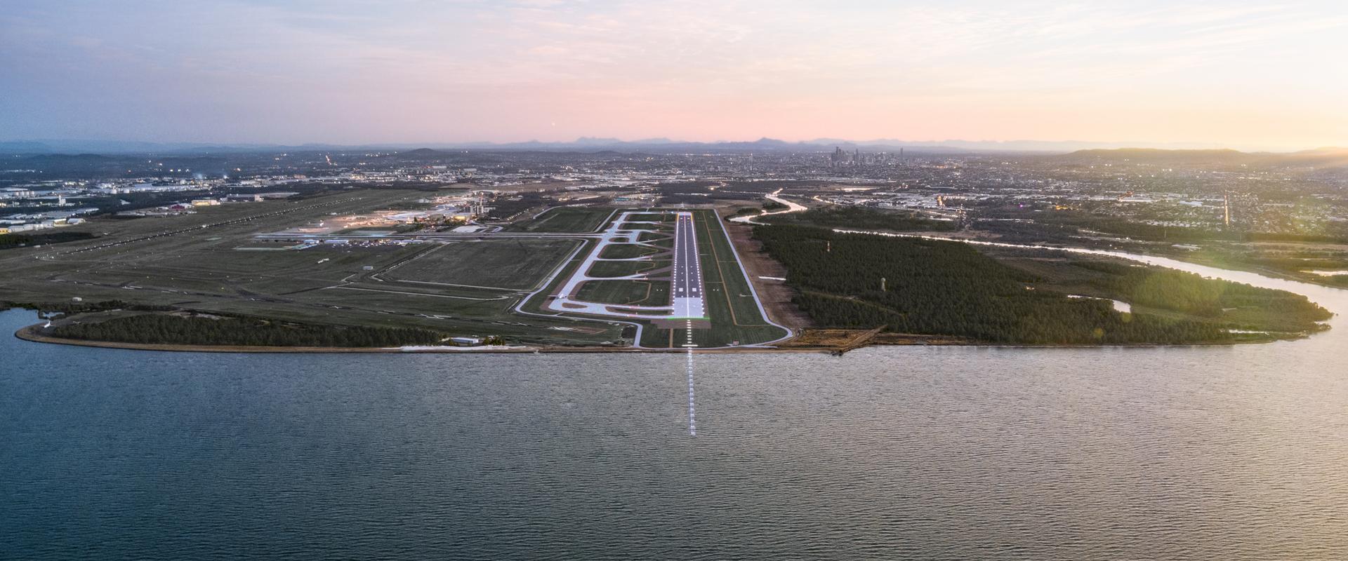 runway aerial photo