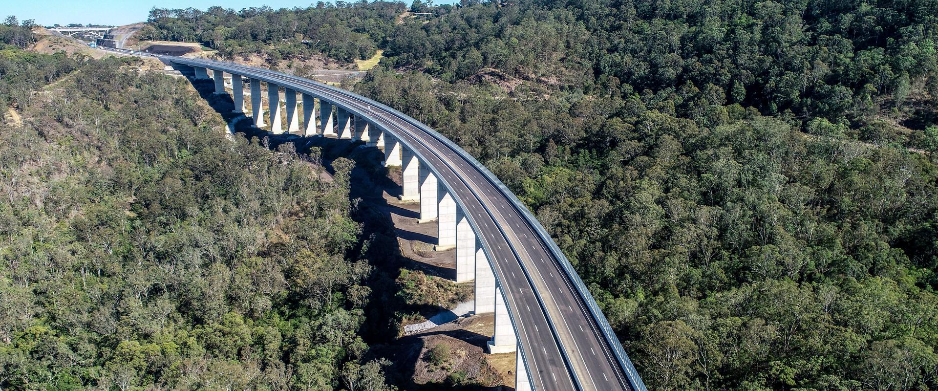 bridge construction aerial photo