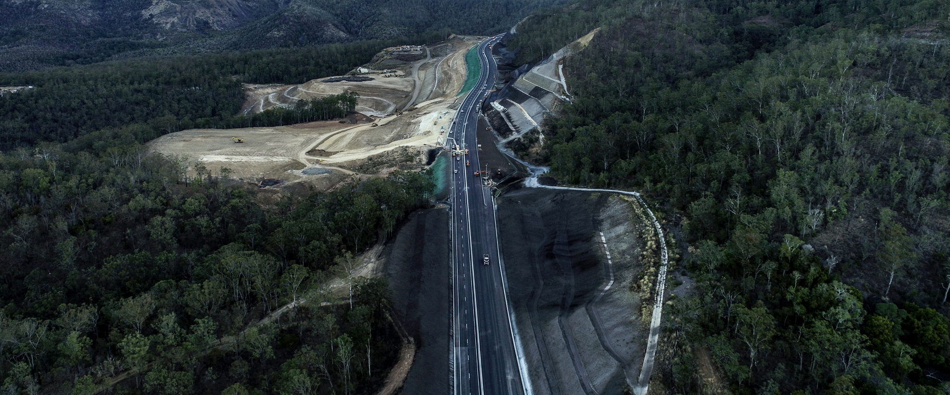 road construction aerial photo
