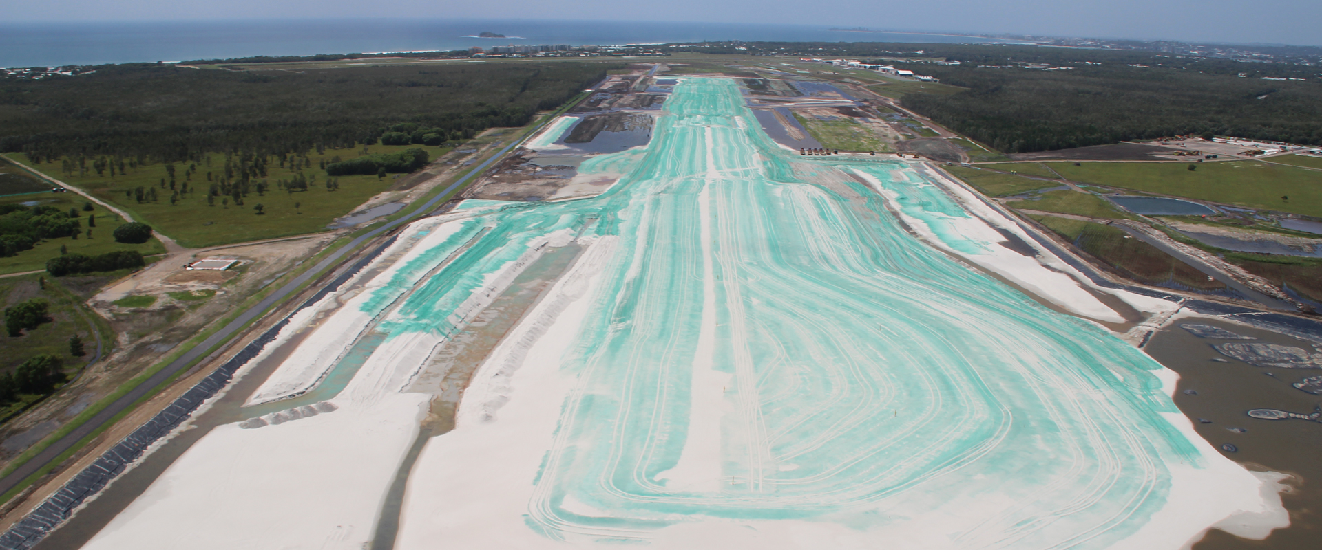 image of the airport expansion during the time construction sciences was working on the project