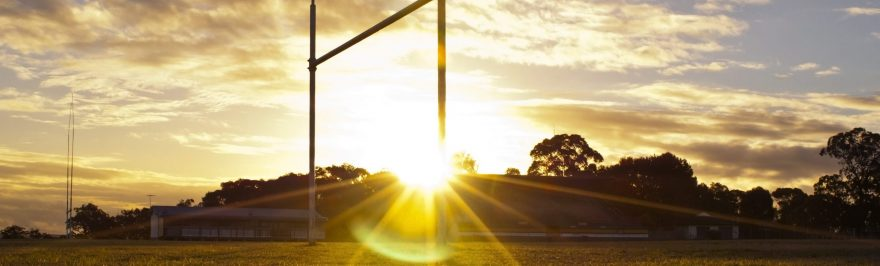 Goal,Posts,For,Football,,Rugby,Union,Or,League,On,Field